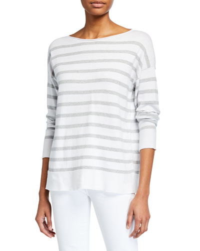 Striped Organic Cotton Tunic Sweater