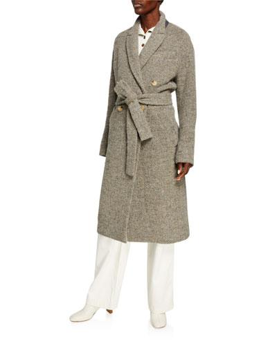 Pebble Texture Wool Coat