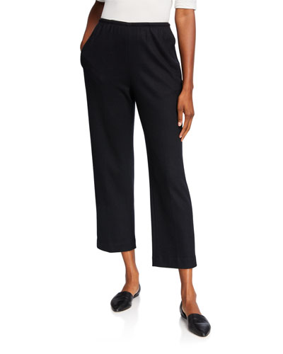 Vince Girls Tuxedo Stripe Woven Trousers Black 10 Medium
