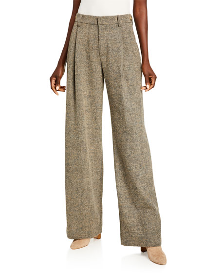 Vince Pebble Textured Wide-Leg Pants