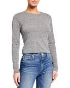 AMO Denim Babe Long-Sleeve Heathered T-Shirt