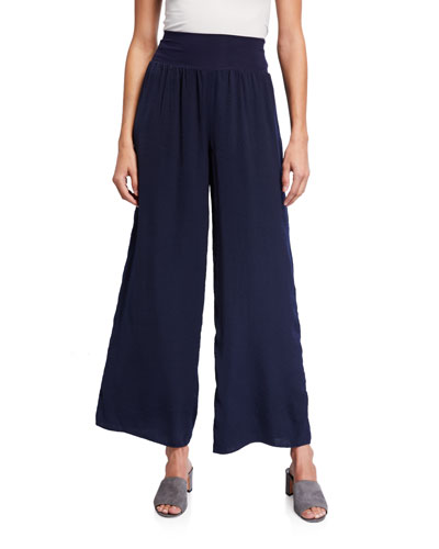 Petite Go With The Flow Wide Leg Pants