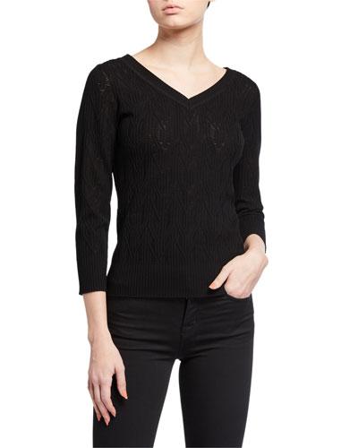 Rumi V-Neck Knit Sweater