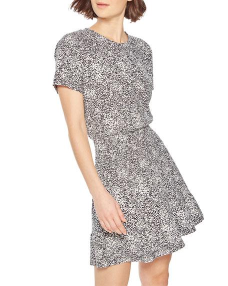 Parker Burke Printed Short-Sleeve Tee Dress