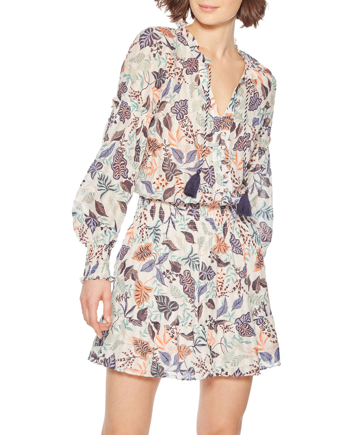 Parker Dresses LAURA PRINTED BUTTON-FRONT DRESS