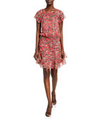 Parker Nohra Silk Flounce Dress