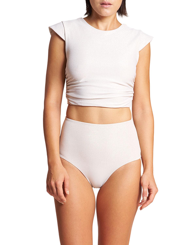 Hera Cap-Sleeve Swim T-Shirt