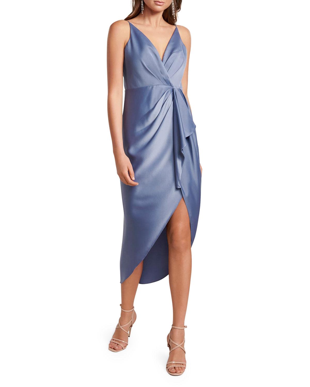 Adelina High-Low Waterfall Dress