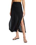 Jonathan Simkhai Ciara Chiffon Jacquard Coverup Skirt