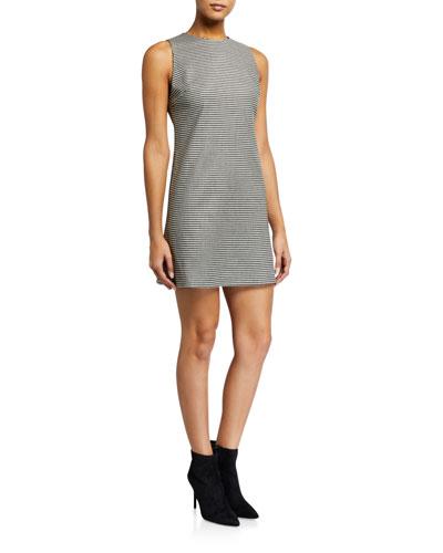 Coley Check Crewneck Sleeveless Mini Dress