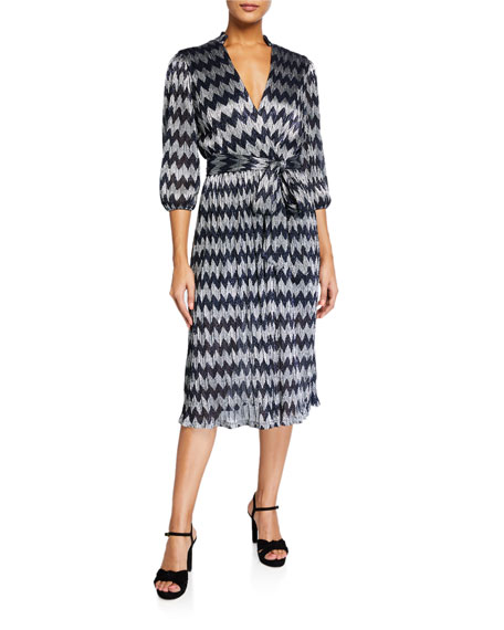 Alice + Olivia Katina Gathered Midi Dress