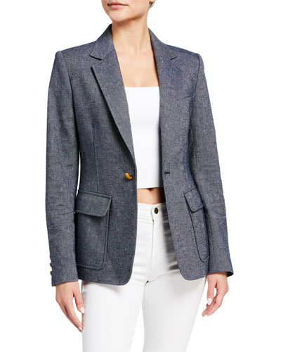 Stevie Single-Button Jacket