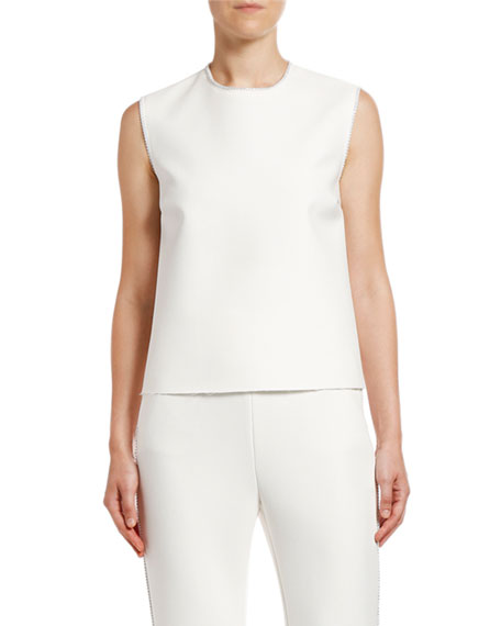 MSGM Sleeveless Strauss Trim Top