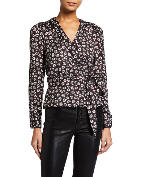 Bailey 44 Marguerite Mini Leopard-Print Wrap Top
