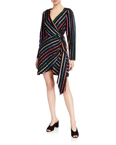 Magnolia Stripe Wrap Dress