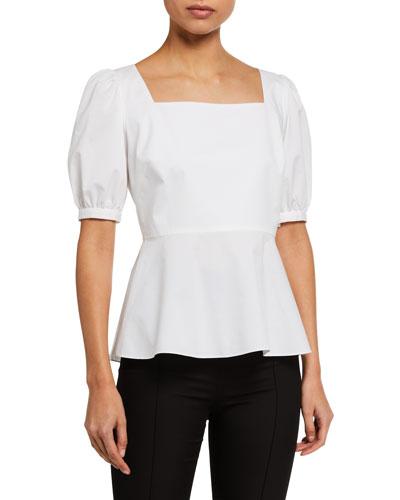Soren Short-Sleeve Peplum Shirt
