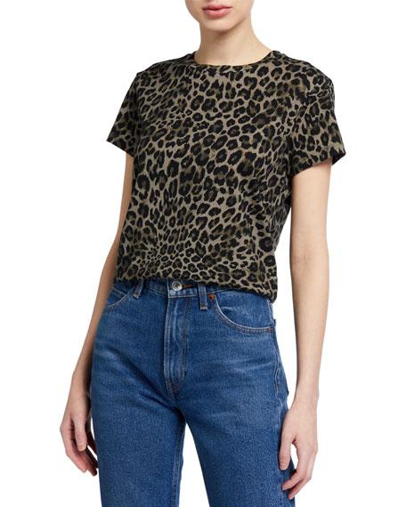 Pam & Gela Leopard Print Cotton Tee