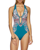 JETS by Jessika Allen Reverie Plunging One-Piece Swimsuit