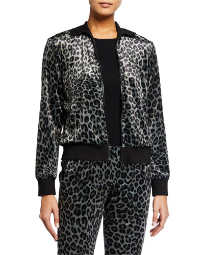 Leopard-Print Track Jacket