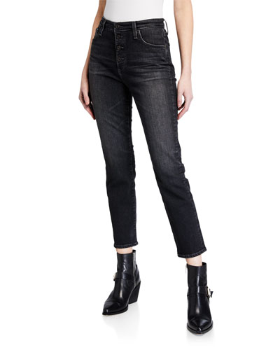 Isabelle High-Rise Button-Up Straight Jeans