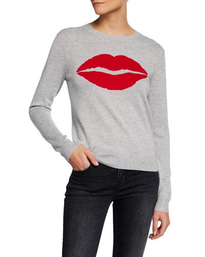 Bisou Bisou Heathered Intarsia Sweater