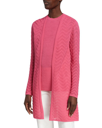 Long Sleeves Patterned Cardigan | Neiman Marcus