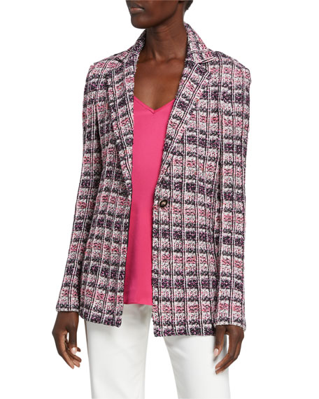 St. John Collection Monarch Texture Tweed Jacket