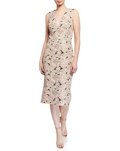 Colette Floral Lace Sequin Dress
