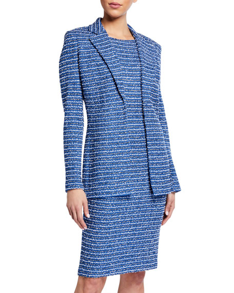 St. John Collection Butterfly Ribbon Tweed Knit Jacket