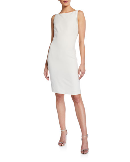 St. John Collection Tuxedo Faille Sleeveless Cocktail Dress