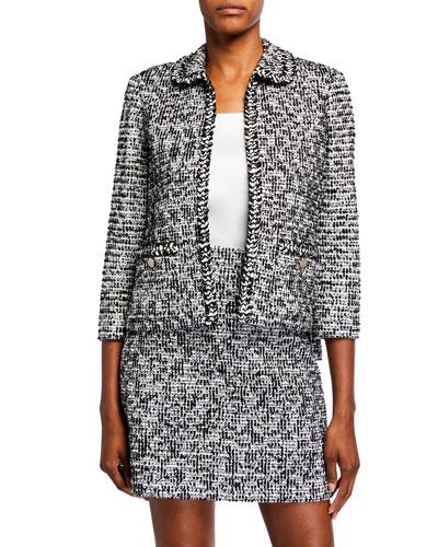 Modern Statement Tweed Blazer