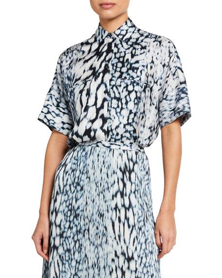 Elie Tahari Jane Button-Down Silk Shirt