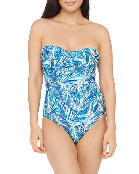 La Blanca Sketched Bandeau One-Piece Swimsuit