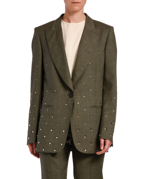 No. 21 Crystal-Embellished Wool Jacket
