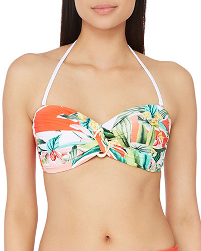 Costa De Prata Bandeau Bikini Top