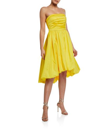 Strapless Taffeta Bubble Dress