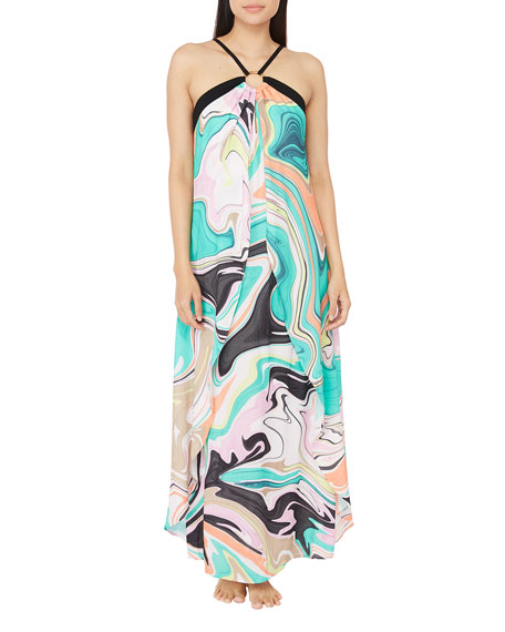 Trina Turk Nazare O-Ring Maxi Dress