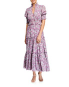 Alexis Isarra Tiered Ruffle Floral-Print Dress