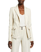 Alexis Enos Striped Single-Button Jacket and Matching Items