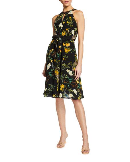 Kobi Halperin Mavis Floral Print Halter Dress