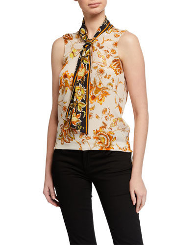 Alix Sleeveless Silk Blouse