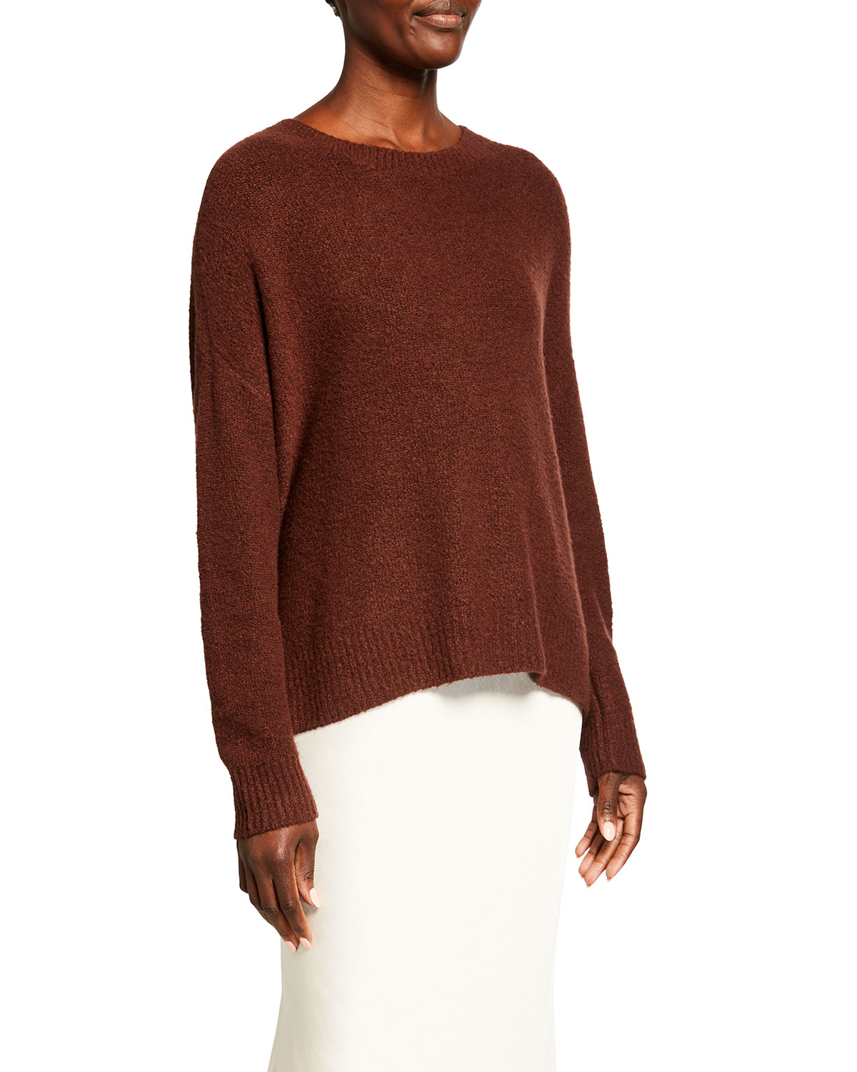 Alice And Olivia ROMA BOUCLE PULLOVER SWEATER