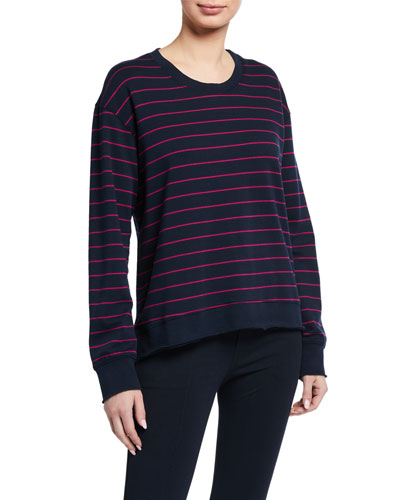 Graceful Striped Lightweight Sweatshirt