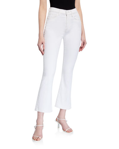 High-Waist Slim Kick Jeans