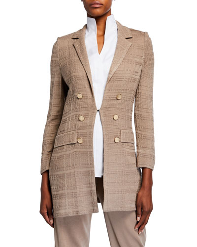 Plus Size Long Textured Jacket