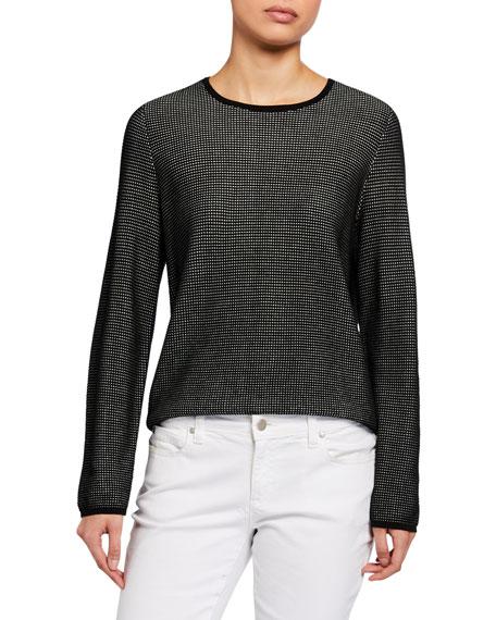 Eileen Fisher Silk/Organic Cotton Long-Sleeve Sweater