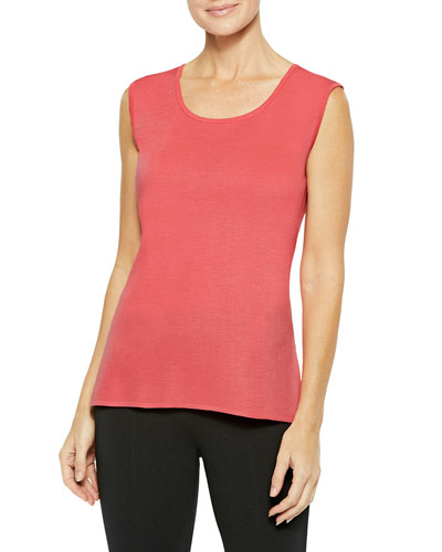 Plus Size Solid Knit Tank