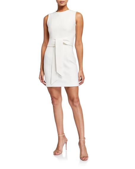 Toccin Sleeveless Tie-Front Mini Sheath Dress