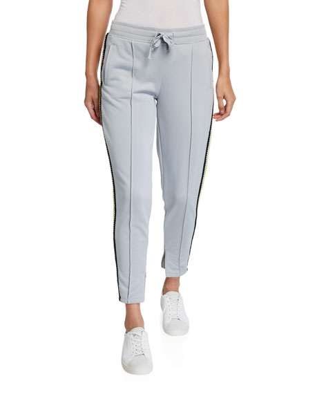 ATM Anthony Thomas Melillo French Terry Crochet-Trim Pull-On Pants