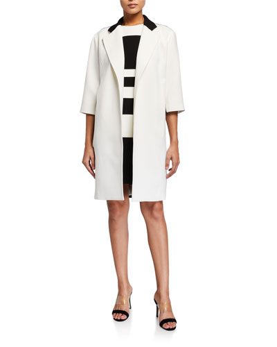 Colorblock Cocoon Coat